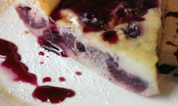 Clafoutis: Caramelised flan style dessert with cherries [France]